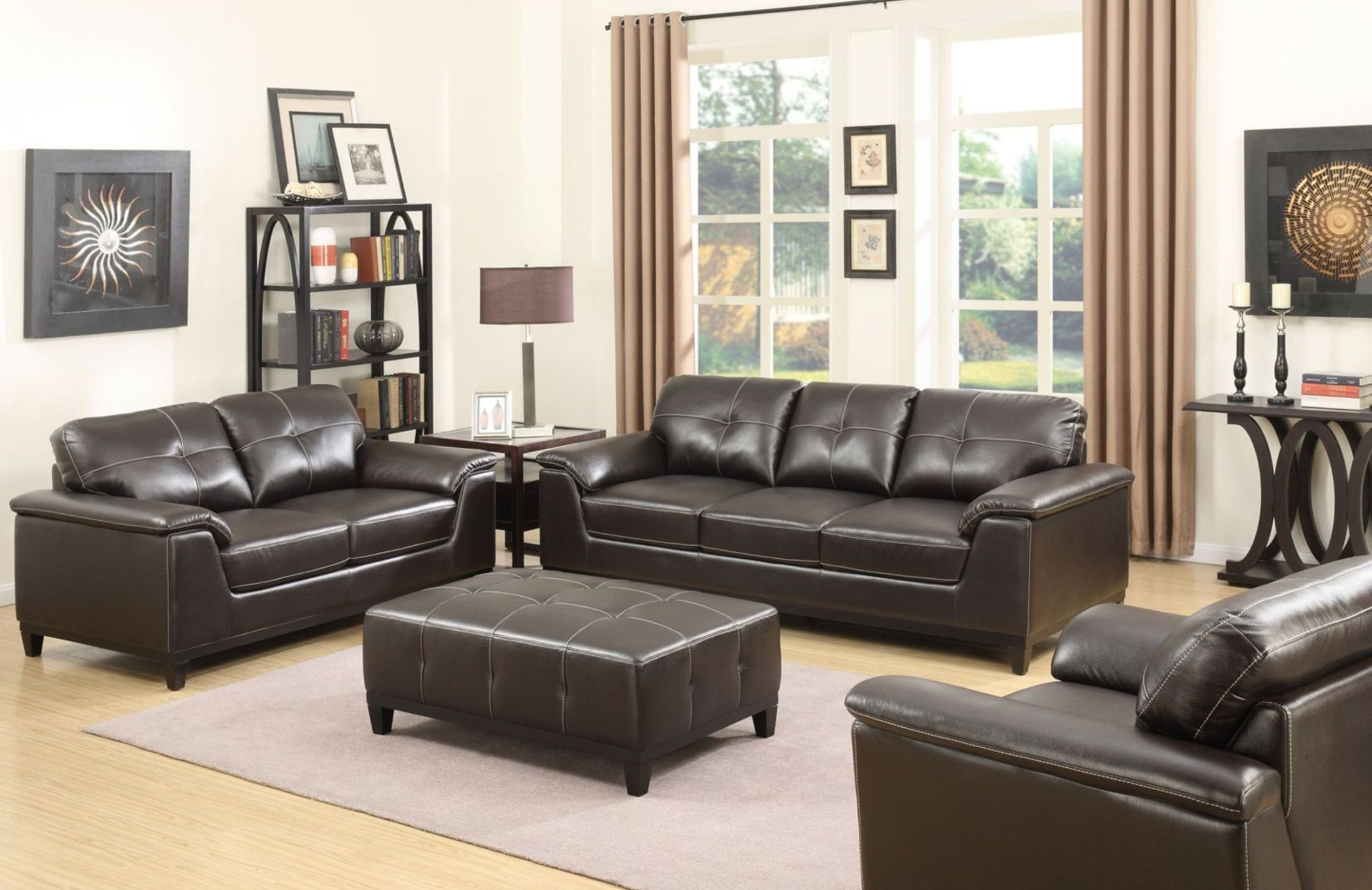 Marquis Walnut Living Room Set from Emerald Home  Coleman