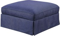 Mountain Retreat Dark Blue Cocktail Ottoman from Emerald