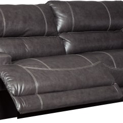 Reclining Two Seat Sofa Sleeper Big Lots Mccaskill Gray 2 Power From Ashley