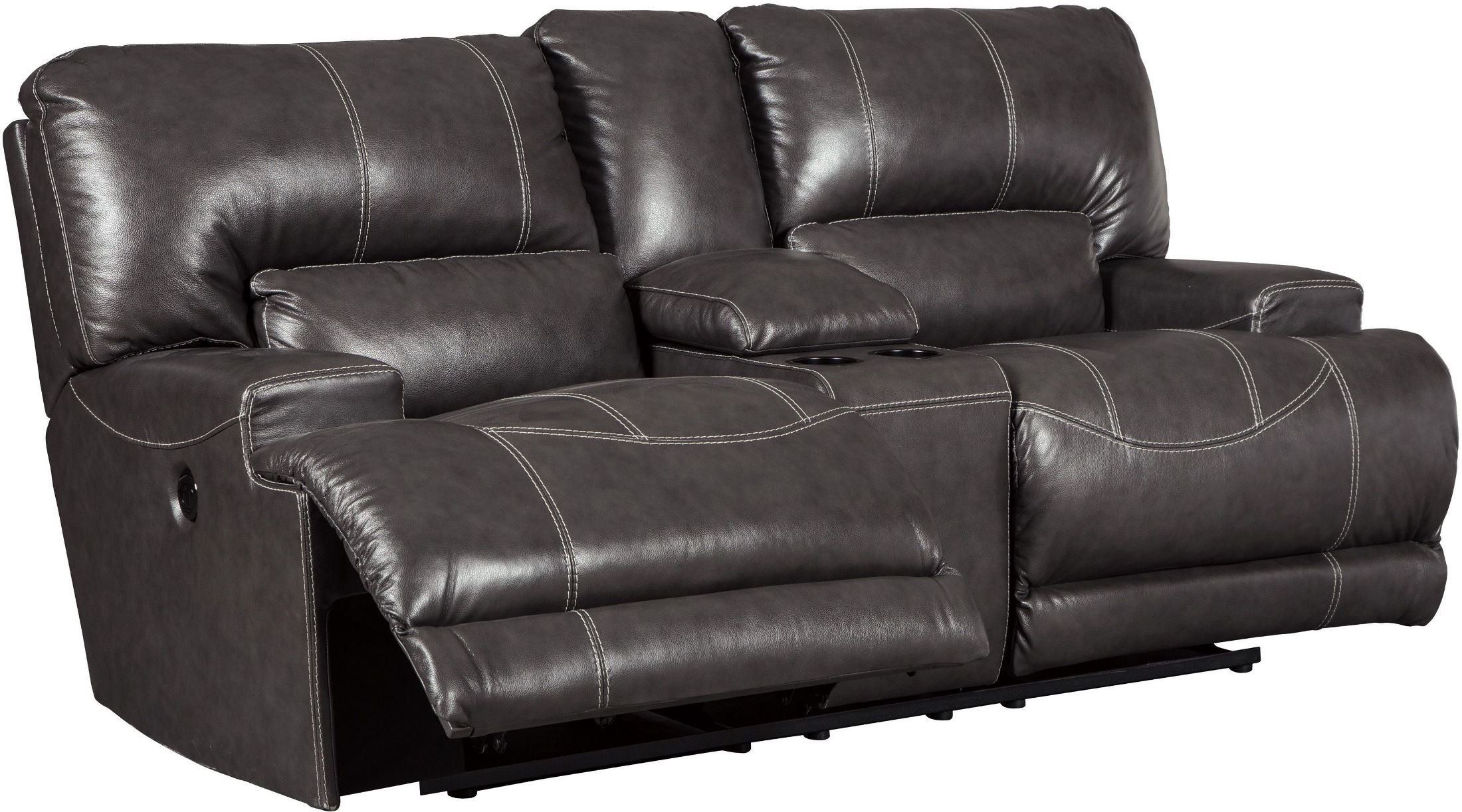 grey power reclining sofa divani online company mccaskill gray double console loveseat