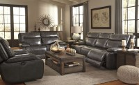 Palladum Metal Power Reclining Living Room Set from Ashley ...