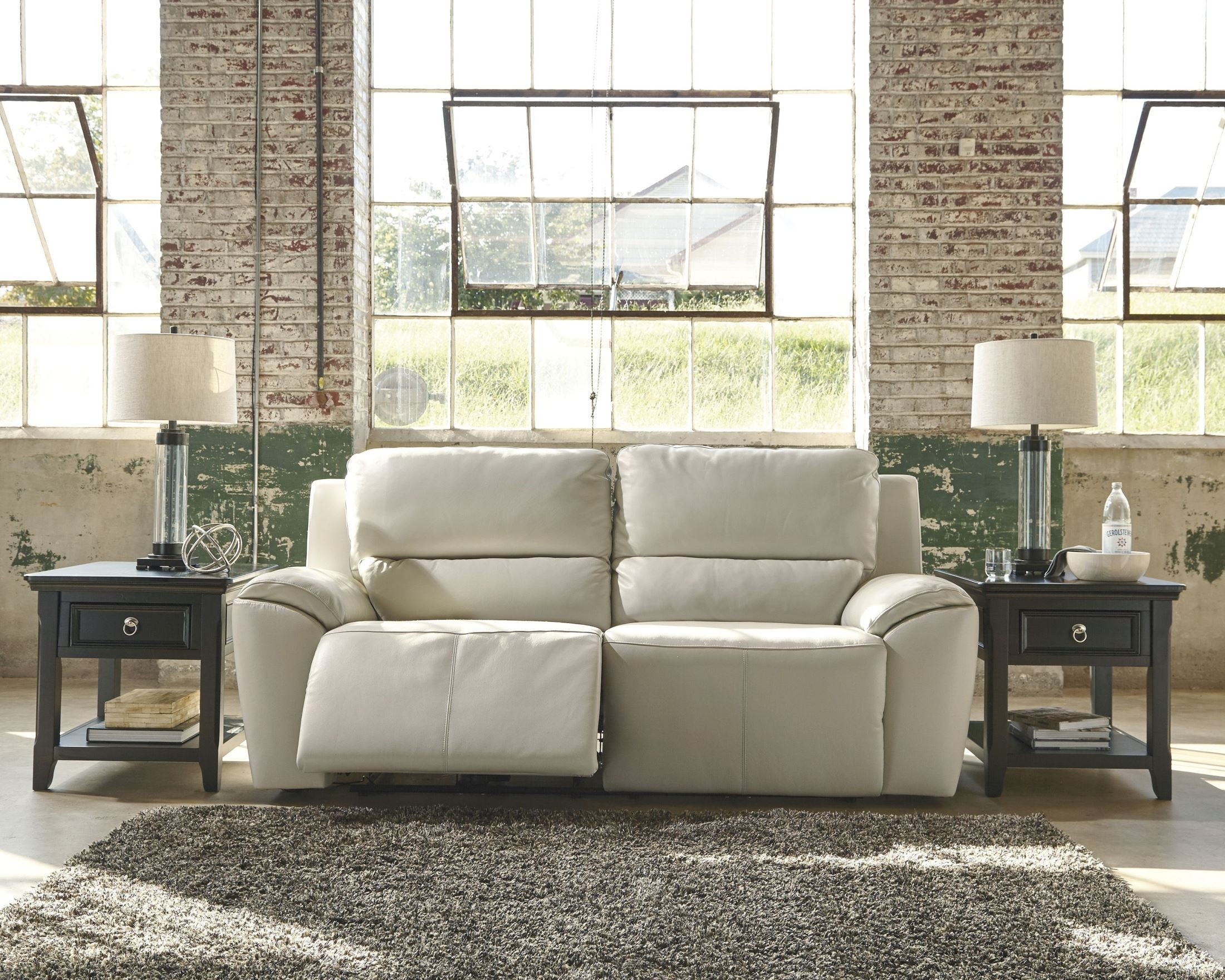 cream colored leather sofas baby blue crushed velvet sofa valeton 2 seat power reclining from ashley