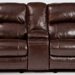 Glider Sofa Navy Blue Sofas Damacio Dark Brown Power Reclining Loveseat With