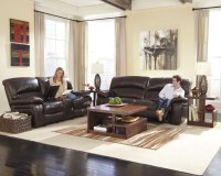 Damacio Dark Brown Reclining Living Room Set from Ashley ...