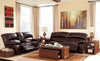Damacio Dark Brown Reclining Living Room Set from Ashley ...