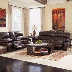 Tosh Furniture Dark Brown Sofa Set Decorating End Tables Damacio Reclining Living Room From Ashley