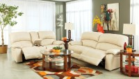 Damacio Cream Power Reclining Living Room Set from Ashley ...