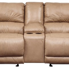 Glider Sofas Comfortable Cheap Lenoris Caramel Power Reclining Loveseat With