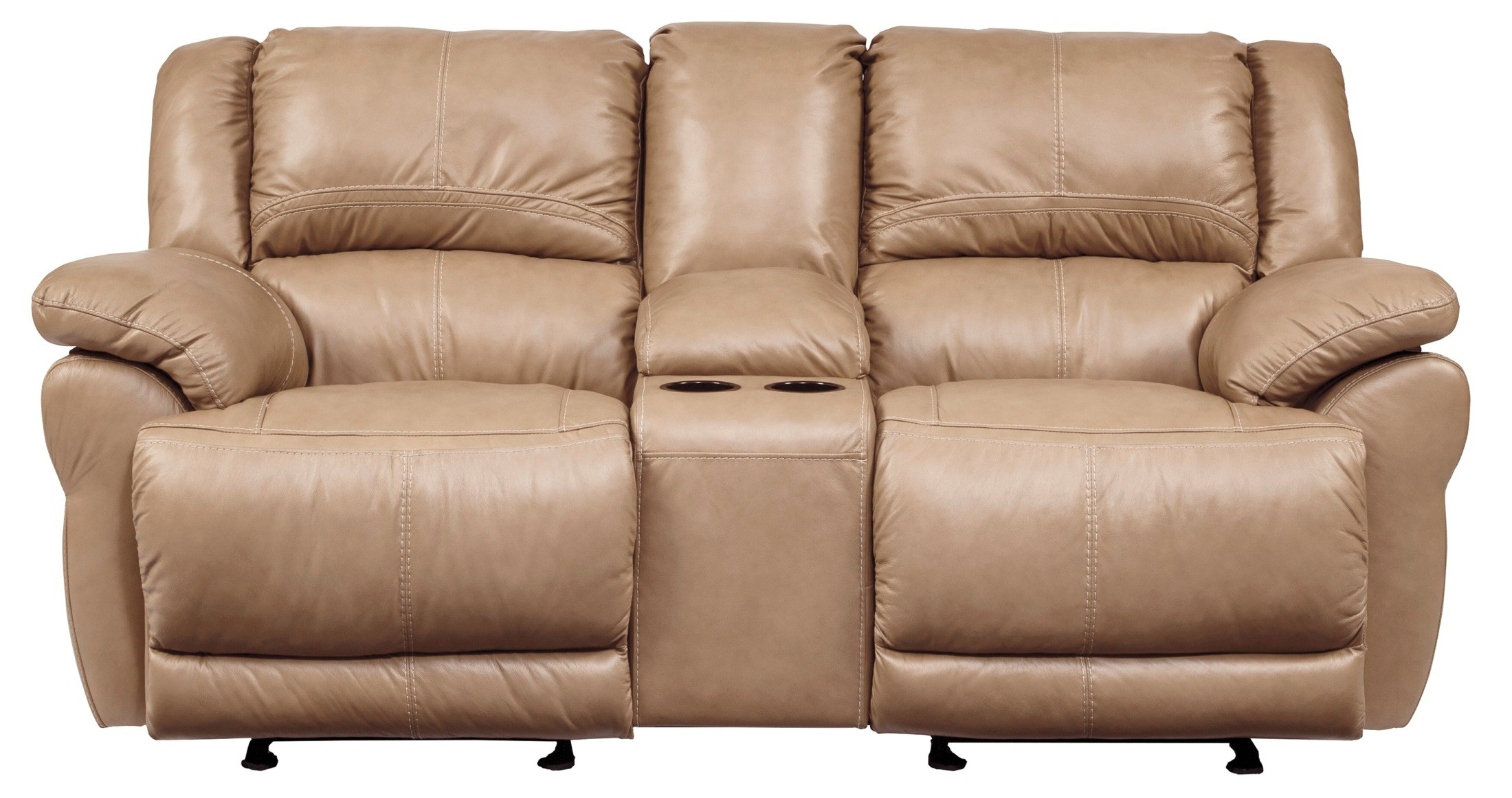 glider sofa chaise lounge single bed lenoris caramel power reclining loveseat with