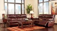 Lensar Burgundy Reclining Living Room Set from Ashley ...