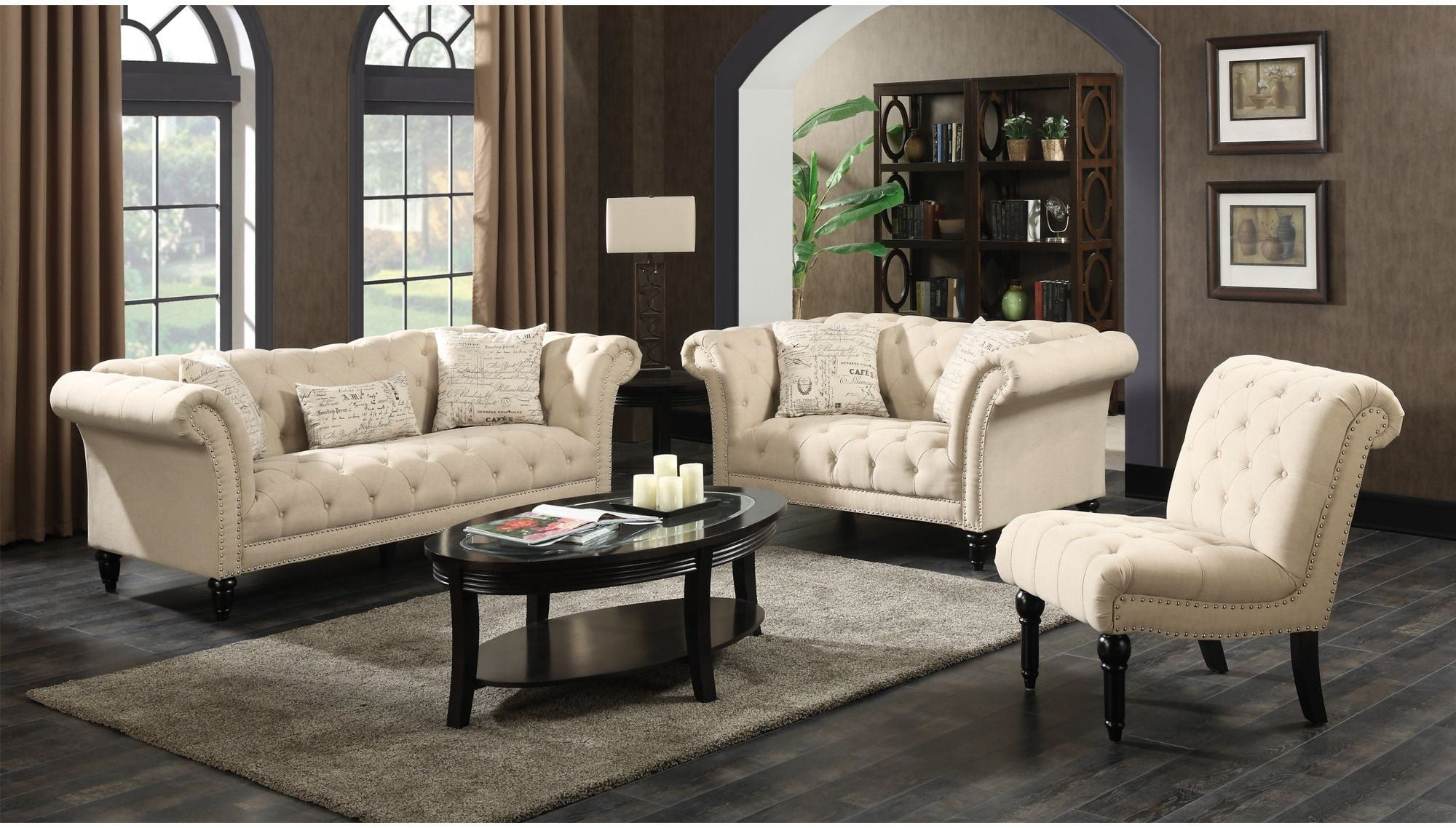 create your own living room set island themed twine natural with french script pillows from 2961235