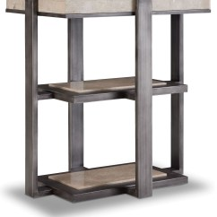 Gray Chair Side Table Massage Design Tubular Steel Chairside From Hooker Coleman