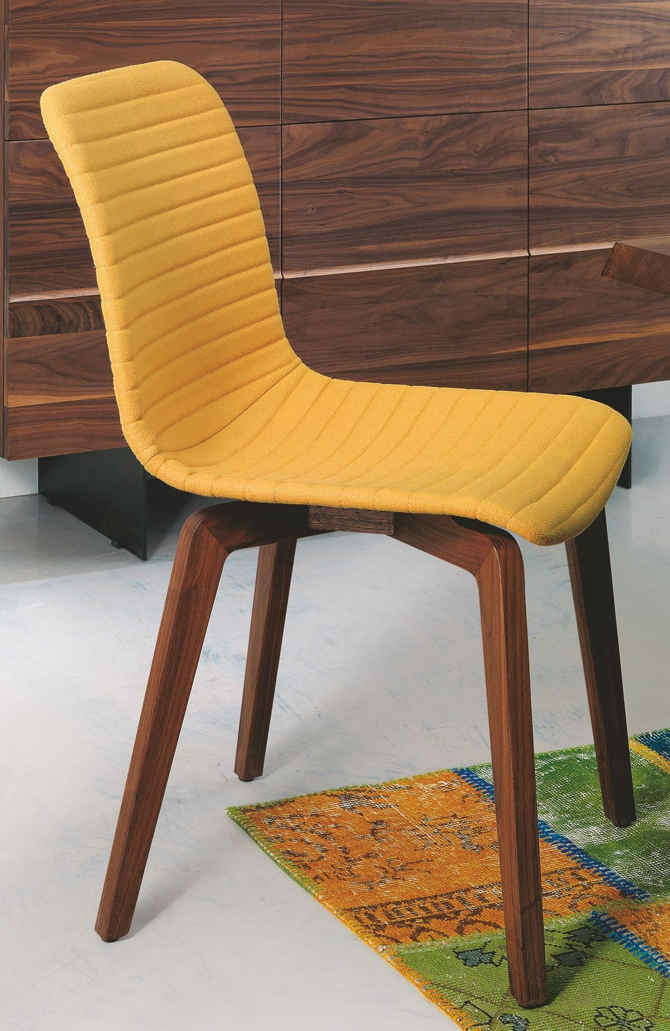 Yellow Dining Chair Vela Yellow Leather Dining Chair Vela Yellow Bellini