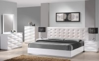 Verona White Lacquer Platform Bedroom Set from J&M (17688 ...