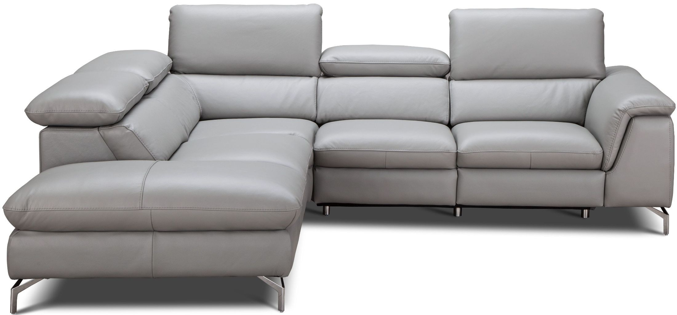 light gray leather reclining sofa american freight sofas viola premium power laf