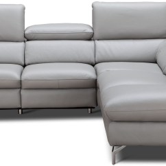 Light Gray Leather Reclining Sofa Faux Deals Viola Premium Power Raf