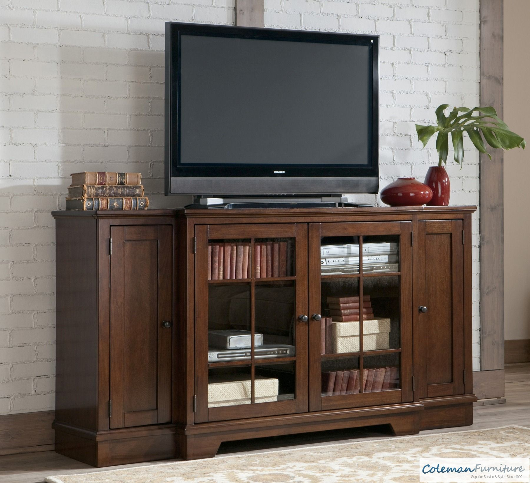 Hodgenville Tall Extra Large TV Stand from Ashley W68448  Coleman Furniture