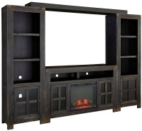 Gavelston Entertainment Wall with Fireplace Option from ...