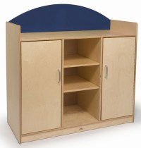 Rainbow Blue Storage Cabinet from Whitney Brothers