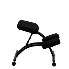 Upholstered Posture Chair Concrete Rebar Chairs Mobile Ergonomic Kneeling In Black Fabric From