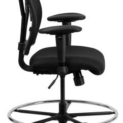 Hercules Big And Tall Drafting Chair Best Gaming Uk Series Black Mesh Arm Stool