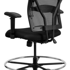 Hercules Big And Tall Drafting Chair For Reading Series Black Mesh Arm Stool