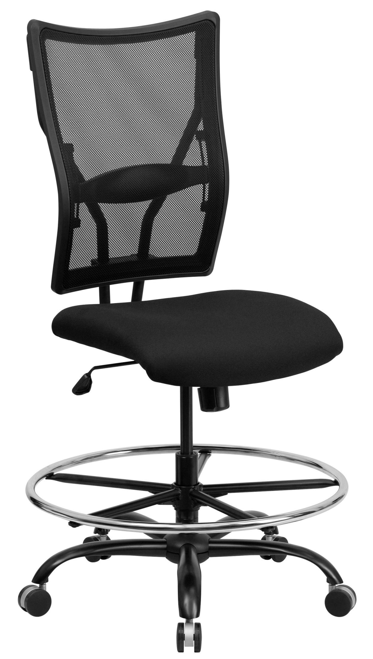 Tall Drafting Chair 10001479 Hercules Big And Tall Black Drafting Stool From