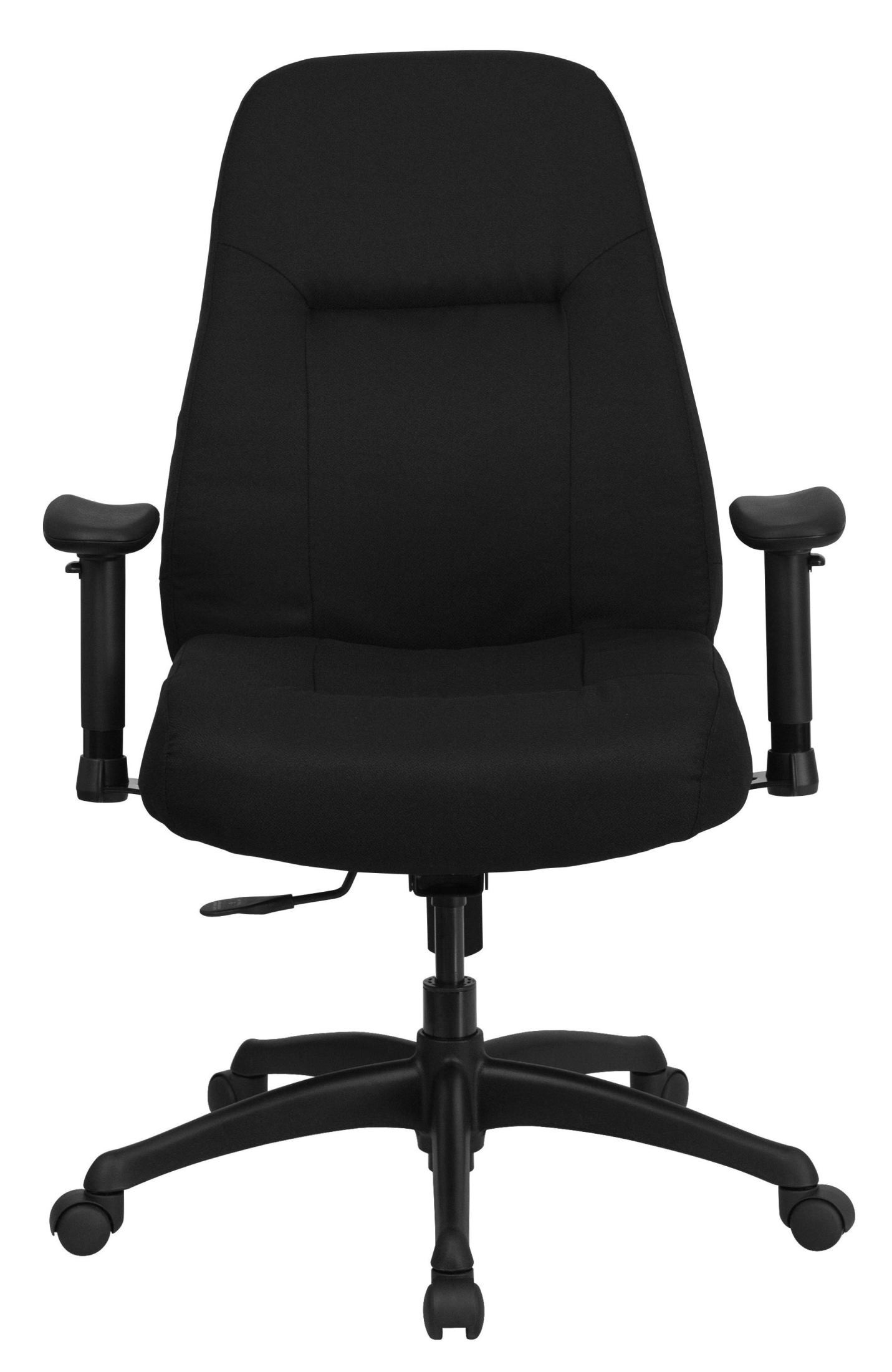 hercules big and tall drafting chair patterned living room chairs high back black fabric arm office