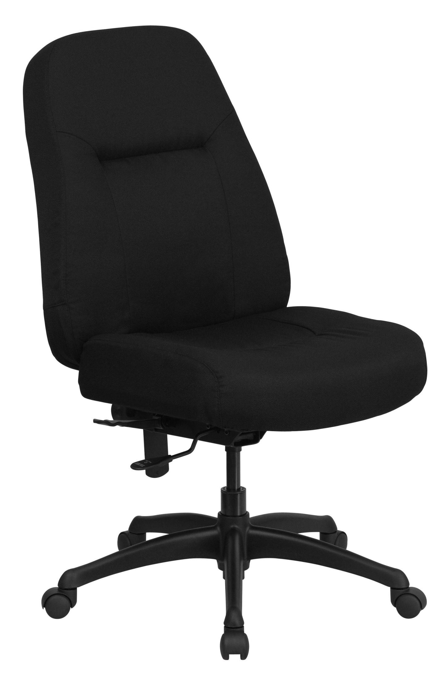 hercules big and tall drafting chair wooden child high back black fabric office