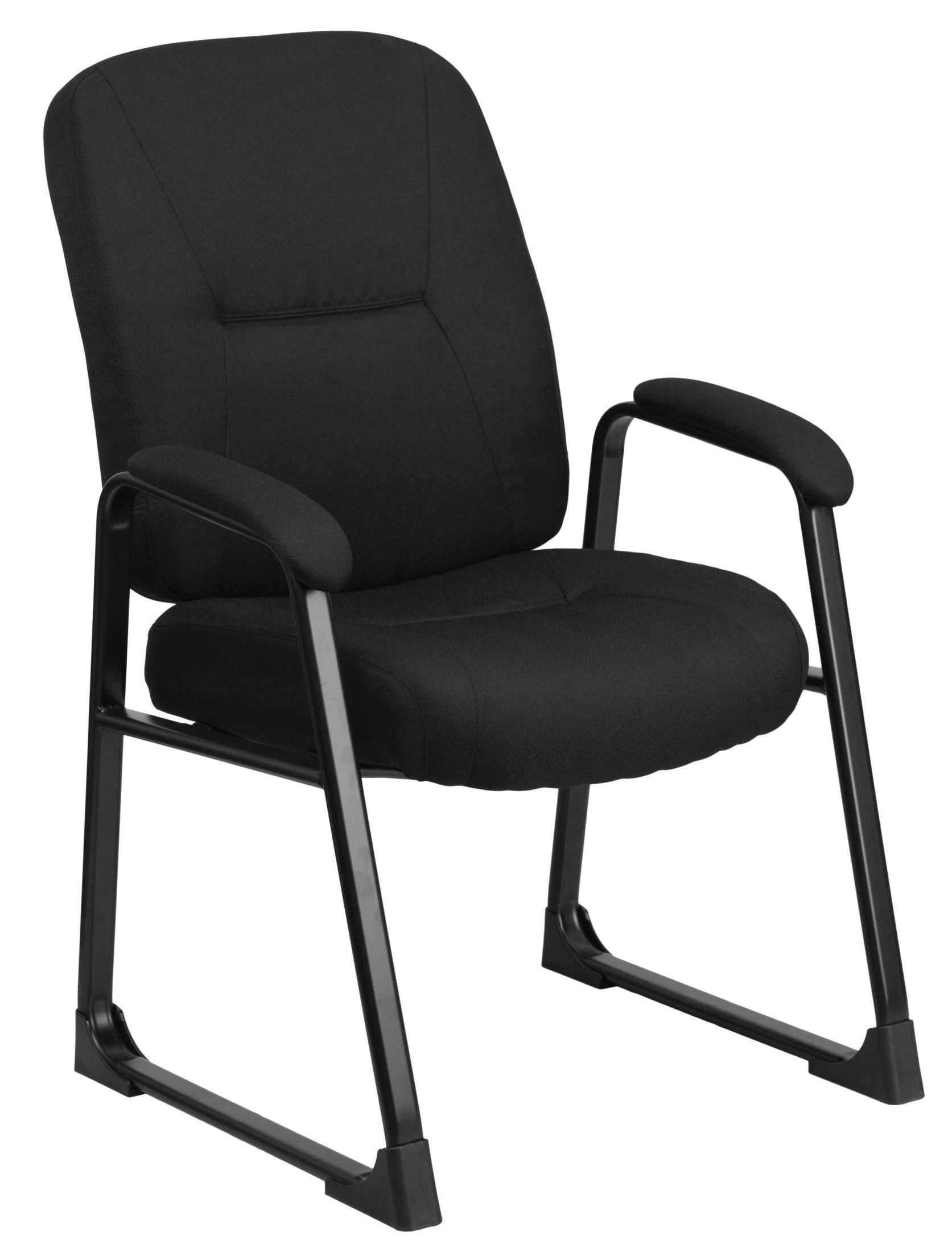 black side chair and white arm hercules big tall fabric executive from