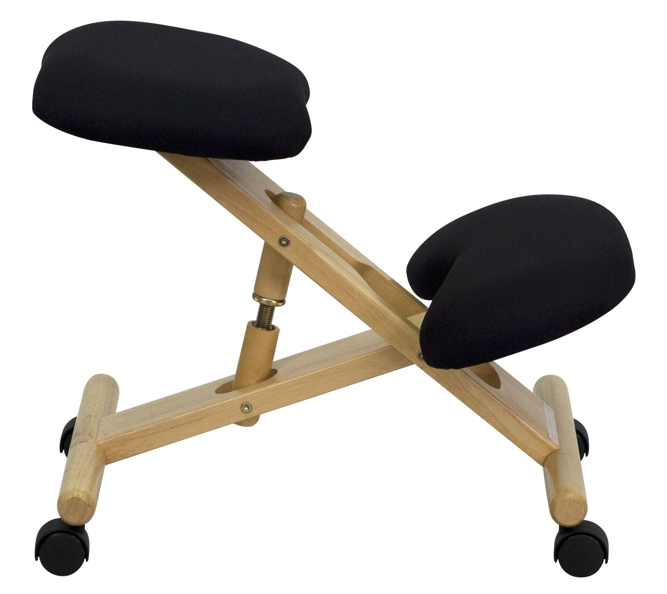 Ergonomic Chair Kneeling Mobile Wooden Ergonomic Kneeling Black Chair From Renegade