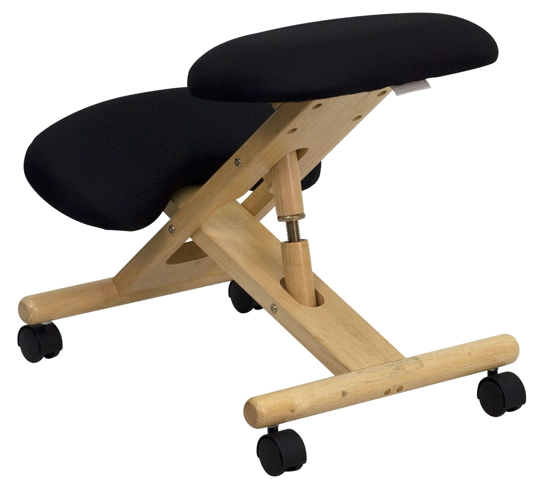 ergonomic chair kneeling review double sided mobile wooden black from renegade