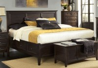 Westlake Dark Mahogany Storage Bedroom Set, WSLDM5091, A ...