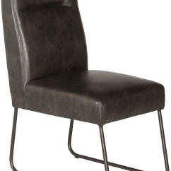 Industrial Dining Chair Cover Rentals Louisville Ky Brown Set Of 2 From Pulaski