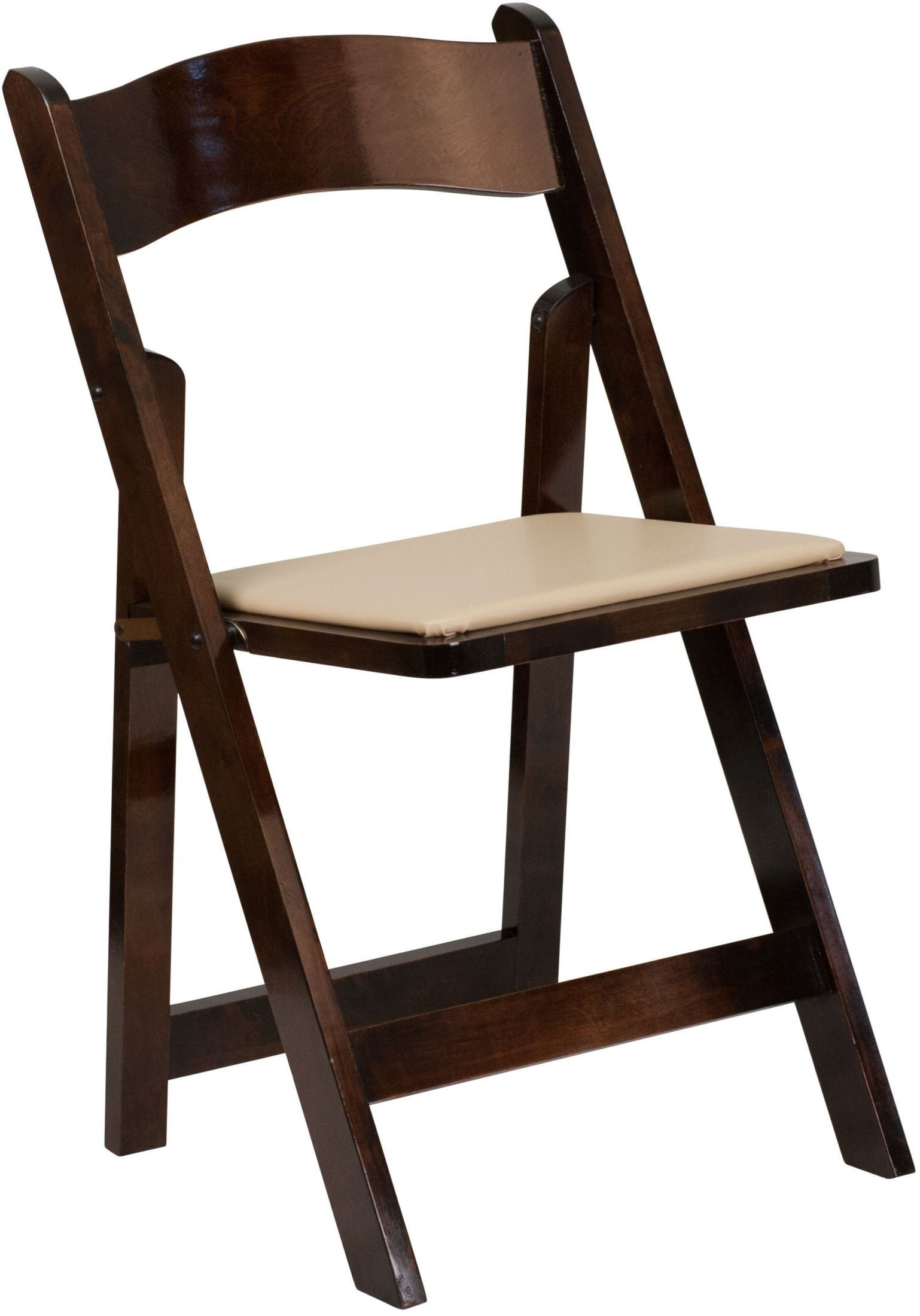 hercules folding chair 3 in one high plans series fruitwood wood and vinyl padded seat