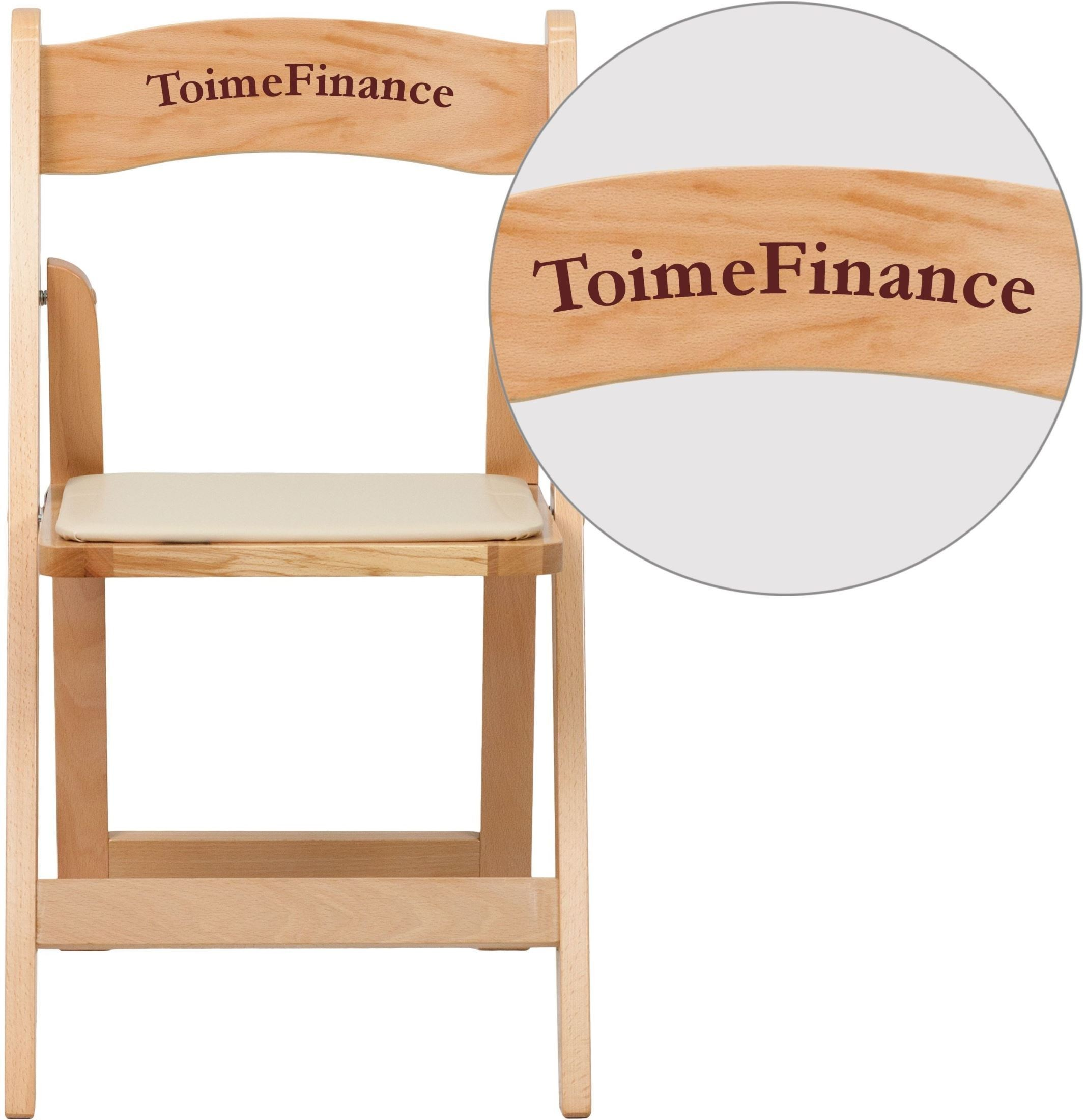 folding wood chairs with padded seat chair box stand personalized hercules series natural