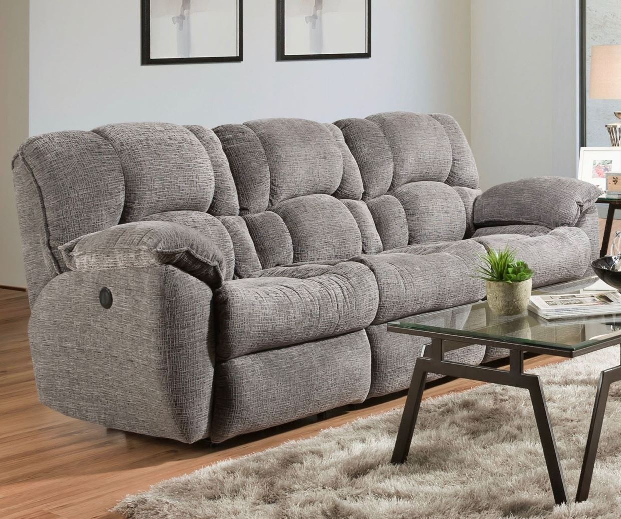 grey power reclining sofa rocking chair nursery uk weston from southern motion coleman 2933367