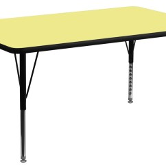 Pre Tables And Chairs Pink Zebra Print Chair 24 Quot Rectangular School Yellow Activity Table From