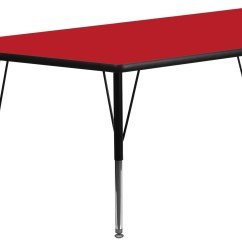 Pre Tables And Chairs Butterfly Chair Stand 30 Quotw X 60 Quotl Trapezoid School Adjustable Height Red