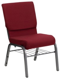 Hercules Series Burgundy Fabric Church Chair from Renegade ...