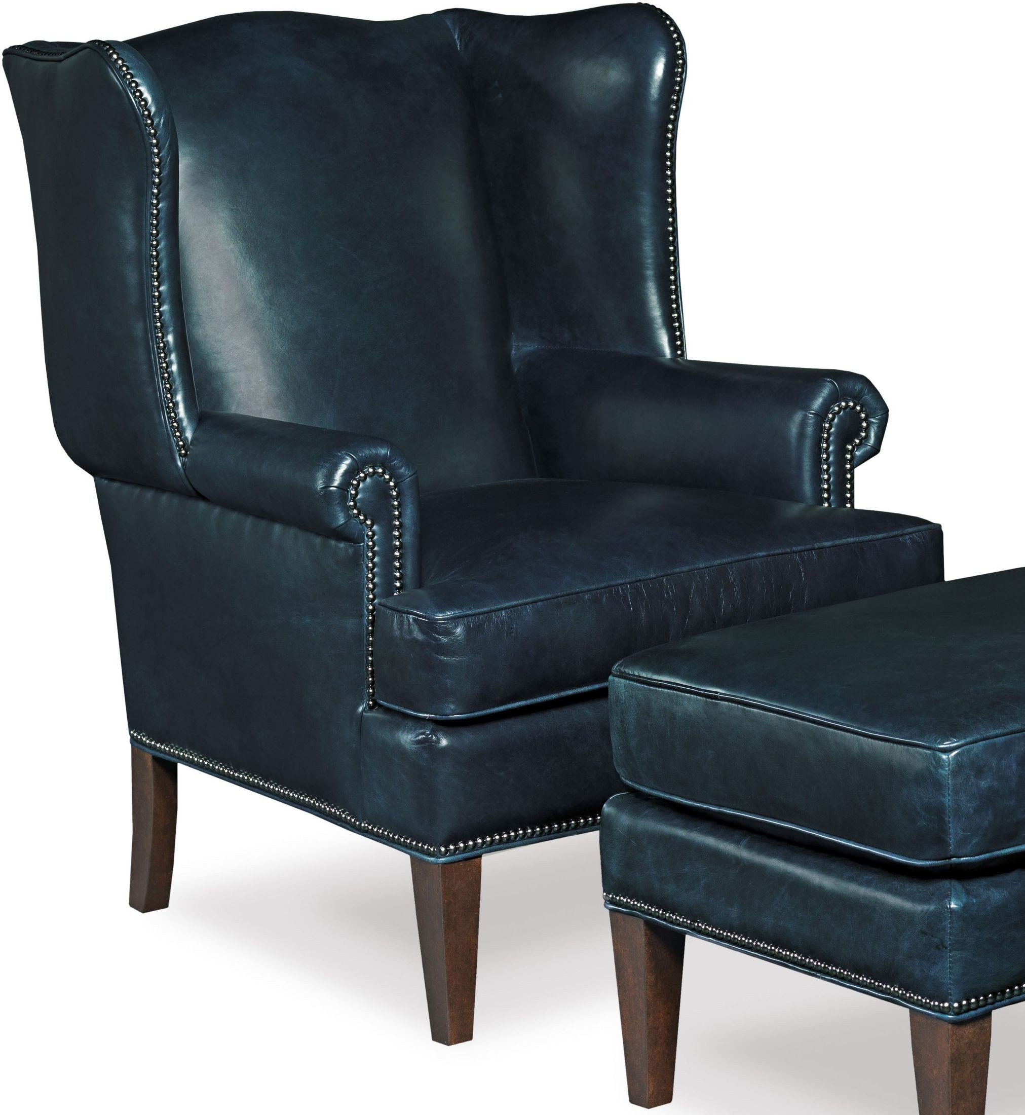 Blue Leather Club Chair Blakeley Blue Leather Club Chair From Hooker Coleman