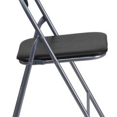 Hercules Folding Chair Mammut Table And Chairs For Sale Series Black Vinyl Metal Carrying Handle