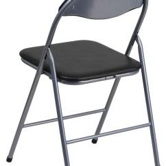 Hercules Folding Chair Set Of 4 Series Black Vinyl Metal Carrying Handle