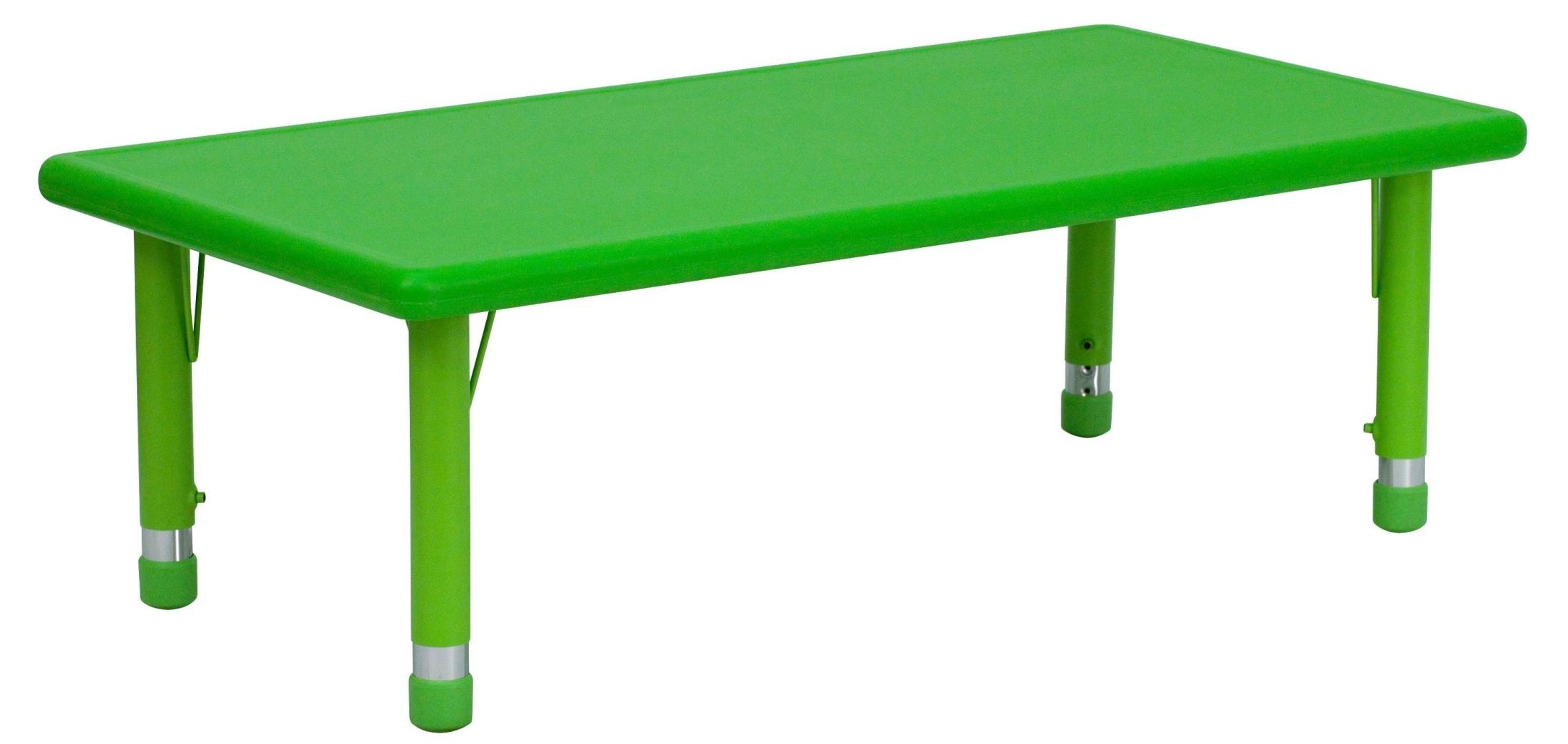 pre tables and chairs cheap folding chaise lounge outdoor 48 39 adjustable height rectangular green plastic activity