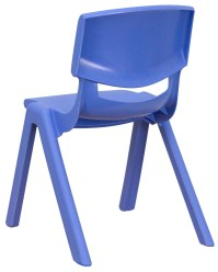 """22""""H Blue Plastic Stackable School Chair from Renegade (YU ..."""