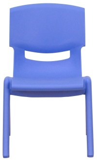"""20""""H Blue Plastic Stackable School Chair from Renegade (YU ..."""