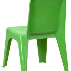 Stackable Resin Chairs Green Foam Seat Pads For Dining Plastic School Chair With Carrying Handle