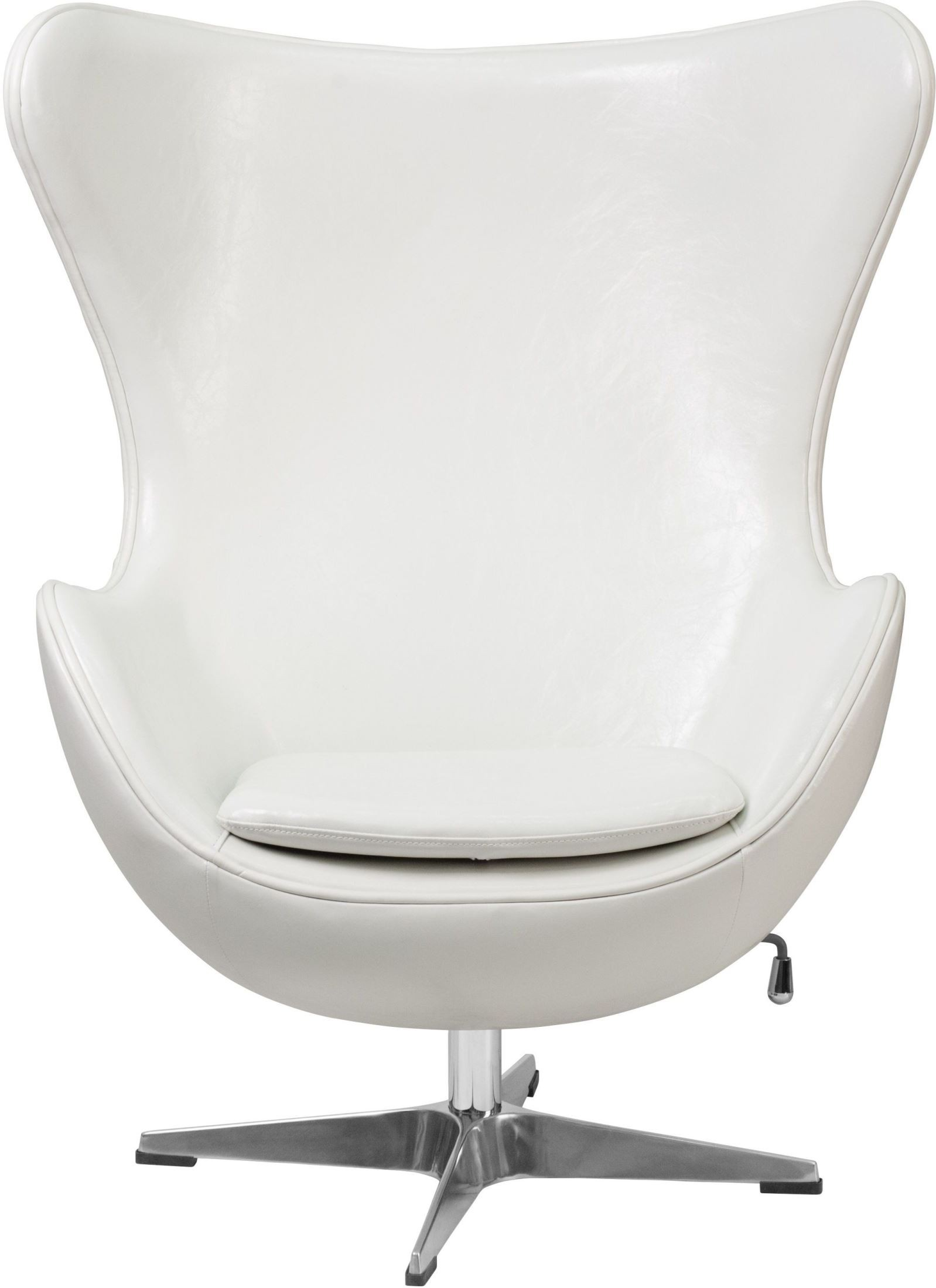 White Leather Egg Chair White Leather Egg Chair With Tilt Lock Mechanism From