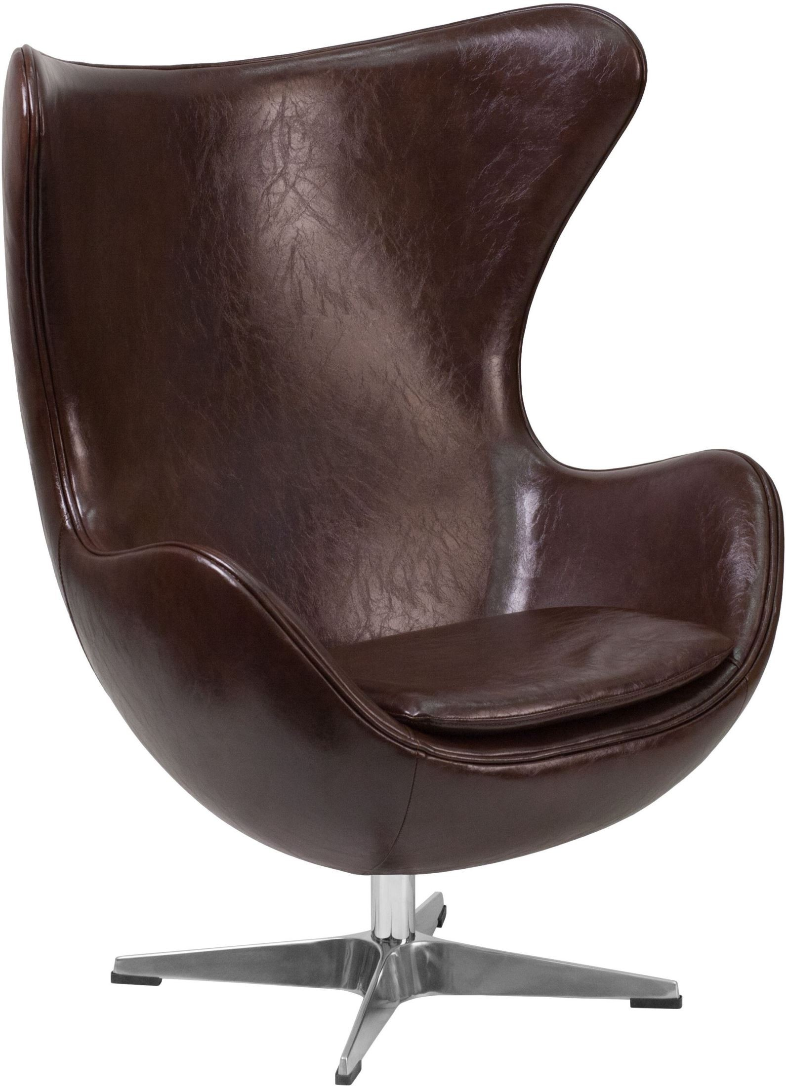 Brown Leather Egg Chair Brown Leather Egg Chair With Tilt Lock Mechanism From