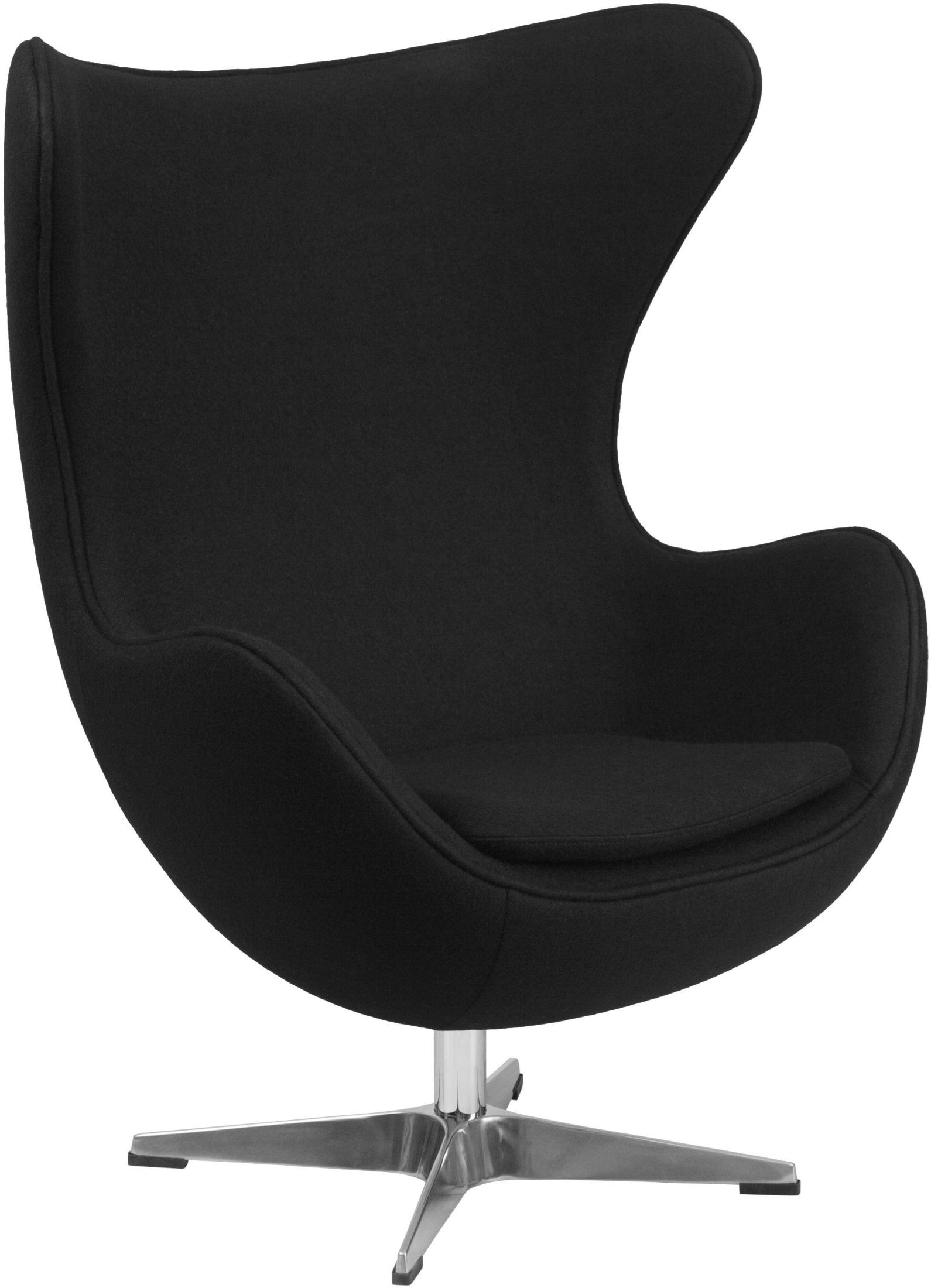 Used Egg Chair Black Wool Fabric Egg Chair From Renegade Coleman Furniture